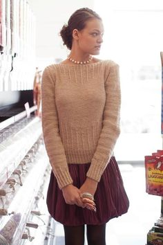 Rock Candy Knitted Pullover Pattern | InterweaveStore.com