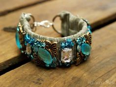 DIY: designer-inspired jeweled bracelet