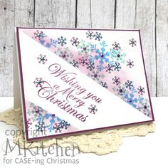 On A Stampage...: CASE-ing Christmas: Sponged Snowflakes