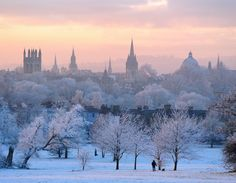 Oxford in the snow.