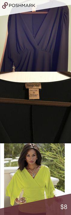 Shirred Knit Blouse Shirred Knit Blouse from Midnight Velvet. Very flattering on. Looks like the catalog photo pictured here. Midnight Velvet Tops Blouses