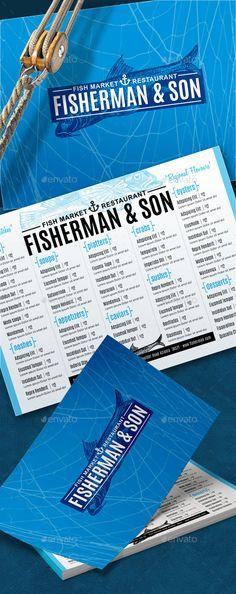 Seafood Menu Template PSD #design Download: http://graphicriver.net/item/seafood-menu/13195606?ref=ksioks