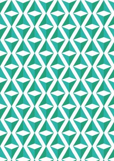 Green and blue repeating triangle square illusion pattern - by ???