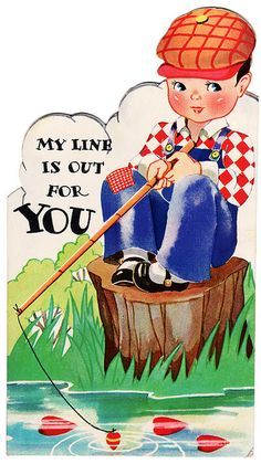 another site to see vintage valentines - My Line is Out