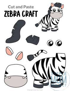 Safari Animal Crafts, Jungle Crafts, Giraffe Crafts, Monkey Crafts, Animal Crafts For Kids, Safari Animals, Animals For Kids, Tiger Crafts, Printable Crafts