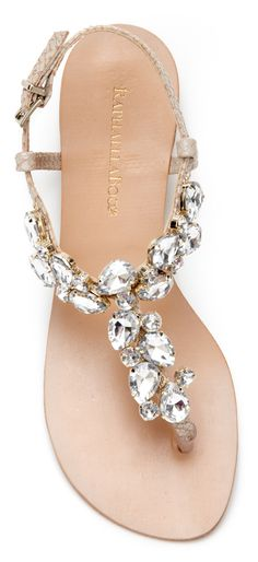 Why couldn't my kids get married in the summer so I could get sandals like these for the weddings?  These speak to me!