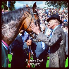 What legends are made of...RIP Sir Henry Cecil.