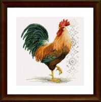 "Gallery.ru / saudades - Альбом ""1"" Rooster Cross Stitch, Chicken Cross Stitch, 123 Cross Stitch, Cross Stitch Charts, Cross Stitch Designs, Cross Stitch Patterns, Embroidery Patterns Free, Knitting Patterns, Cross Stitching"