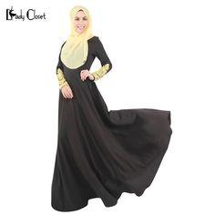 Abaya Turkish women clothing muslim lace sleeve dress islamic abaya jilbab musulmane vestidos longos hijab clothing dubai kaftan hafiz * AliExpress Affiliate's Pin.  Find out more by clicking the VISIT button