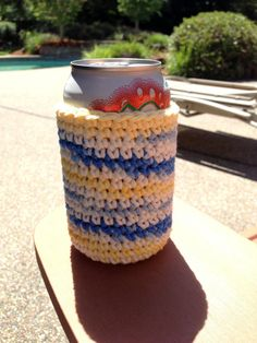 Sunkissed Blue Yellow White Handmade by HoffmanHandicrafts on Etsy, $6.00