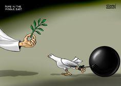 #Cartoon by Shadi Ghanim.  #Caricature #Politics #News #Newspaper #PeaceTalks #Peace