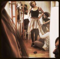 """Stefania's fitting - skirt """"BITTER SWEET"""""""
