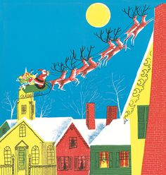 Roger Duvoisin ~ Re-released by Knopf, The Night Before Christmas ~ ROGER was born in Genva, Switzerland, in 1900, and came to the United States in 1925. He wrote and illustrated 40 books, including those about Petunia the silly goose and Veronica the hippopotamus, and illustrated over 100 more by other authors. He received the Caldecott Medal in 1947 for White Snow, Bright Snow and a Caldecott Honor in 1966 for Hide and Seek Fog, both written by Alvin Tresselt. Roger Duvoisin died in 1980.