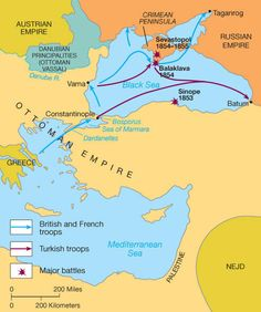 crimean war map and brief explanation