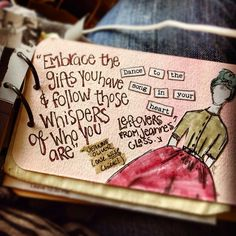 Another #peek into my travel art journal. With words and left over bits from my class with @jeanneoliver by Paper Relics (Hope W. Karney), via Flickr