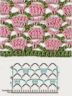 SANDRA PONTOS DE CROCHÊ E TRICÔ...........: Crochet