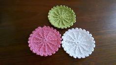 Svarta Fåret : Virkade Face Pads (rengöringsrondeller) Chrochet, Knit Crochet, Textiles, Blogg, Loom Knitting, Betta, Crochet Earrings, Crochet Patterns, Presents