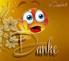 Danke für die glückwünsche facebook Funny Emoji Faces, Thank You Quotes, Animation Film, Tweety, Happy Birthday, Thankful, Humor, Smileys, Cute
