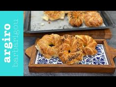 Αφράτη ζύμη (τυρόπιτες και γλυκά) • Argiro Barbarigou - YouTube Bagel, Bread Recipes, Quiche, Recipies, Baking, Food, Pastries, Breads, Youtube