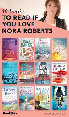 This is a reading for fans of Nora Roberts for this summer. Many of these books are about romance, relationships, and life. Perfect beach reads! #noraroberts #bookrecs #reading #summer2018