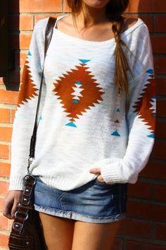 Stylish Aztec Sweater #knit