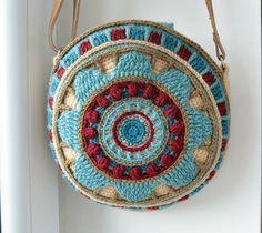 Wheel Of Magic Mandala Bag Crochet Pattern