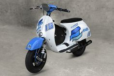 Polini Vespa @nicolazappettini #polini #vespa #madeinitaly #tuning #racing #white #blue #exhaust #engine #work