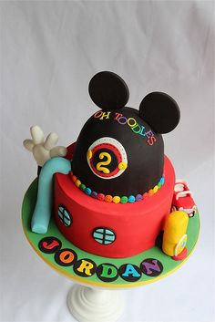 Mickey mouse club house cake by cake by kim, via Flickr