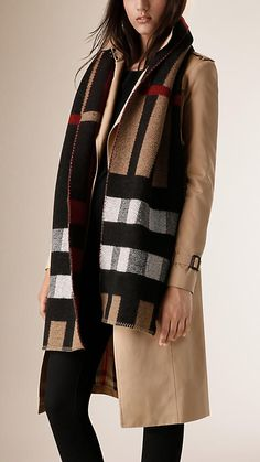 House check Check Wool Cashmere Blanket Scarf - Image 2