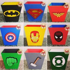 Use in any game? Avengers Room, Marvel Room, Avengers Birthday, Batman Birthday, Superhero Baby Shower, Superhero Theme Party, Superhero Room, Party Themes, Hulk Party