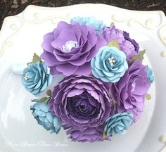 Handmade Paper Flowers Corsage Weddings by morepaperthanshoes