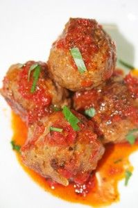 Albondigas-- made these for Spanish tapas night. Came out great.