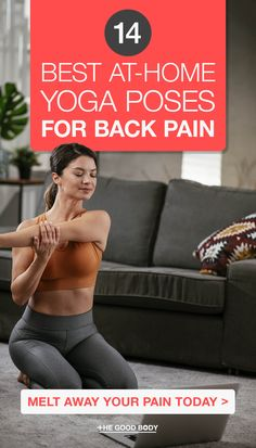 14 Best Yoga Poses for Back Pain According to Experts (And Yogis!) Wondering what the best yoga pose is for back pain? We've listened to the experts and some passionate yogis and compiled the top 14 asanas that could help with the country's growing back pain problem! Asana Yoga Poses, Yoga Poses For Back, Yoga For Back Pain, Yoga Sequences, Become A Yoga Instructor, Home Yoga Practice, Yoga Pictures, Natural Pain Relief, Top 14