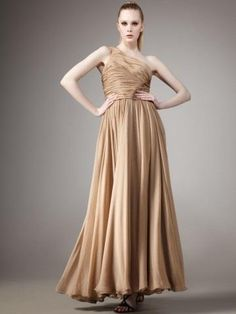 2013 Style Sheath _ Column One Shoulder Ruffles  Sleeveless Floor-length Chiffon Gold Prom Dress _ Evening Dress. br_Product Name2013 Style Sheath _ Column One Shoulder Ruffles  Sleeveless Floor-length Chiffon Gold Prom Dress _ Evening Dressbr_br_Weight2kgbr_br_ Start From1 Unitbr_br_ br_br_Sleeve LengthSleevelessb.. . See More One Shoulder at http://www.ourgreatshop.com/One-Shoulder-C935.aspx