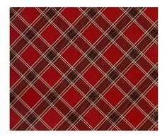 Plaid Red Gift Wrap Flat Wrapping Paper sheets 20 ct
