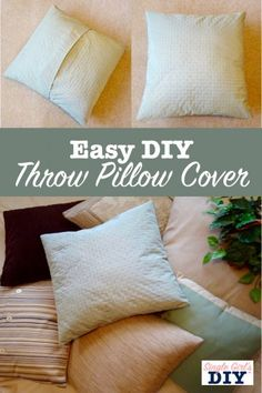 How to Make a Throw Pillow Cover: 5 Simple Steps