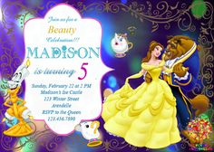 Details about Beauty Beast Belle Princess Birthday Party