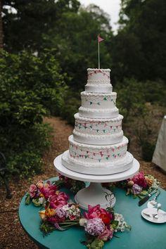 Vibrant and Colorful Outdoor Atlanta Wedding