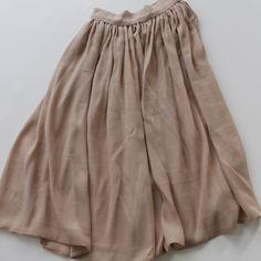 le bouton silk/cotton gauze skirt