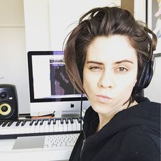 """Making music. And faces. Just for you."" Tegan Quin"