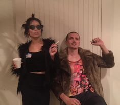 Zoë Kravitz and Karl Glusman as Marla Singer and Tyler Durden from 'Fight Club' - The Best Celebrity Couples Costumes to Copy this Halloween - Photos Celebrity Couple Costumes, Best Celebrity Halloween Costumes, Movie Halloween Costumes, Crazy Costumes, Halloween Inspo, Celebrity Couples, Costumes Kids, Costume Ideas, Halloween Couples
