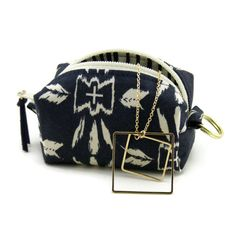 Mini coin purse  navy blue  change purse  Pretty by CandiedCottons