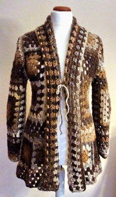 Cardigans & Strickjacken - Häkeljacke Mantel 38/40 Granny Novemberlaub - ein Designerstück von strickmaus bei DaWanda                                                                                                                                                                                 Mehr