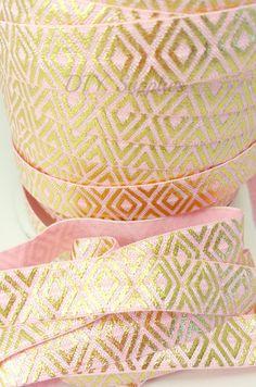 Pink & gold diamonds metallic fold over by diysuppliesandkits