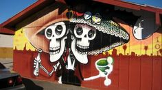 A Lalo Cota mural on the side of Tacos de Juarez at 7th Street and Roosevelt.