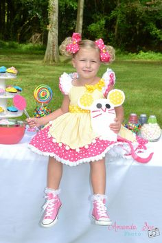 Lalaloopsy Cookie Sugar Crumbs inspired girls dress by SoSoHippo