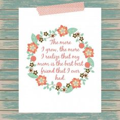 Celebrate mom this Mother's Day with this free printable.