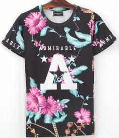 new men/women's summer casual clothing short sleeve tshirt 3d harajuku print floral flowers/trees jungle Rio T-shirts shirt