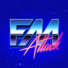 """""""FM Attack"""" logo (a synthwave producer) #80s"""