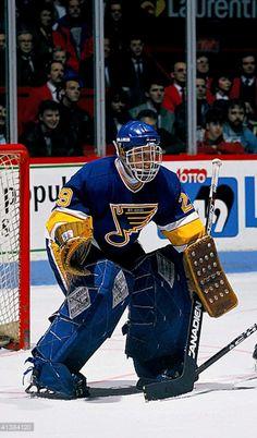 Hockey Goalie, Hockey Games, Goalie Mask, St Louis Blues, Masked Man, Hockey Stuff, Helmets, Cushions, Vintage